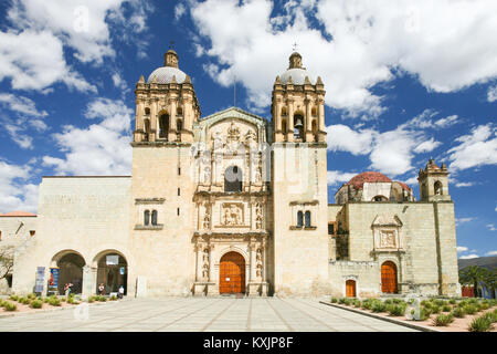 OAXACA, MEXICO - MARCH 7th, 2012: Facade of the Church of Santo Domingo de Guzman in Oaxaca, Mexico - Stock Photo