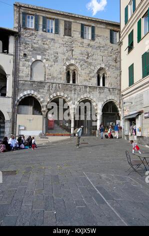 The Commenda di San Giovanni d' Pré, in Genoa, a complex of Romanesque buildings including two superimposed churches, - Stock Photo