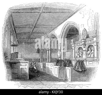 The Chapel Royal of St. Peter ad Vincula ('St. Peter in chains'),  the parish church of the Tower of London  is - Stock Photo