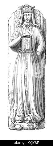 The effigy of Berengaria of Navarre, Queen of England and wife of  King Richard I (1157 – 1199) and King of England - Stock Photo