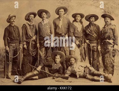 Cast Of Buffalo Bill's Wild West Show - Stock Photo