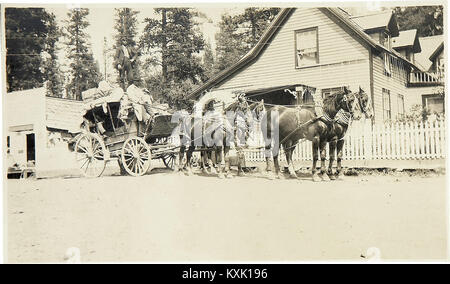 Stagecoach In Front Of Austin House -1900S - Stock Photo