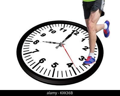 runner sport , 8 eight o'clock in the morning - 3d rendering - Stock Photo