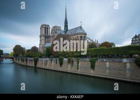 Cathédrale Notre-Dame de Paris, Notre Dame de Paris, Paris, France Stock Photo