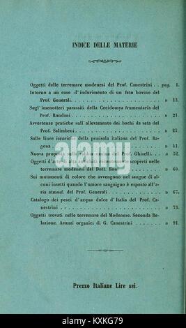 Atti della Società dei naturalisti e matematici di Modena BHL33697771 - Stock Photo