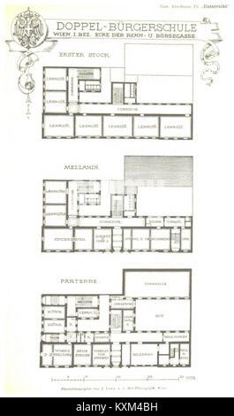 Berichte der Wiener Stadtverwaltung, 1873ff, div. Pläne und Ansichten 03 - Stock Photo