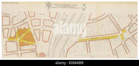 Berichte der Wiener Stadtverwaltung, 1873ff, div. Pläne und Ansichten 09 - Stock Photo