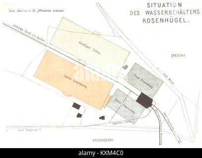 Berichte der Wiener Stadtverwaltung, 1873ff, div. Pläne und Ansichten 12 - Stock Photo