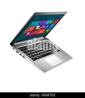 A cut out shot of a modern thin laptop - Stock Photo