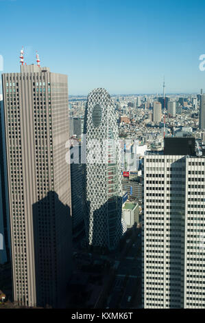 01.01.2018, Tokyo, Japan, Asia - A view of Tokyo's city skyline as seen from the observatory deck of the Tokyo Metropolitan - Stock Photo