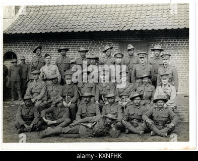 British and Indian officers 9th Gurkhas at their headquarters (Photo 24-59) - Stock Photo