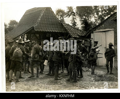 British and Indian officers 9th Gurkhas at their Headquarters (Photo 24-60) - Stock Photo