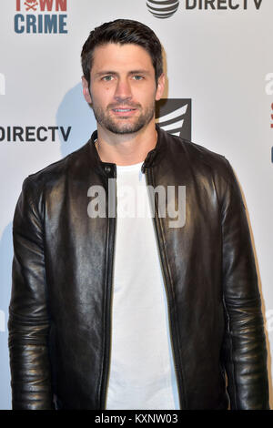 Los Angeles, USA. 10th Jan, 2018. James Lafferty attends the special screening of 'Small Town Crime' at Vista Theatre - Stock Photo