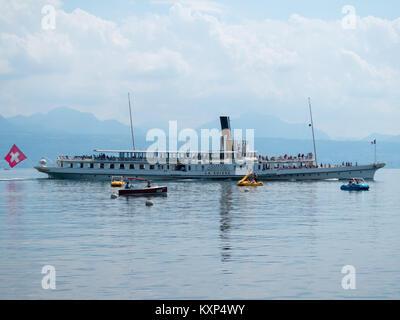 Geneva lake steamboat - Stock Photo