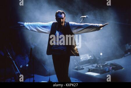 Peter Gabriel during The Secret World tour at The Summit in Houston Texas USA on July 30, 1993    **NO MEXICO** - Stock Photo