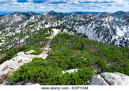 Rozanski kukovi on mountain Velebit in national Park Northern Velebit in Croatia, Europe - Stock Photo