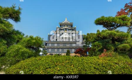 Okayama Castle or Crow Castle in Okayama  OKAYAMA, JAPAN - NOVEMBER 17: Okayama Castle in Okayama, Japan on November - Stock Photo