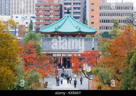 Benten Hall Temple at Ueno Park in Tokyo  TOKYO, JAPAN - NOVEMBER 25: Benten Hall in Tokyo, Japan on November 25, - Stock Photo