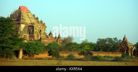 BAGAN, MYANMAR - CIRCA APRIL 2017 Htilominlo pagoda - Stock Photo