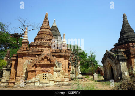 BAGAN, MYANMAR - CIRCA APRIL 2017 Old temples - Stock Photo