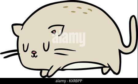 Cute Fat Cat Cartoon