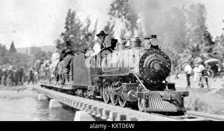 Eastlake Park Scenic Railway (photo from Frederic Shaw's 'Little Railways of the World') - Stock Photo