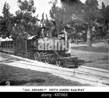 Eastlake Park Scenic Railway - 'All abord' - Coit's scenic railway - Stock Photo