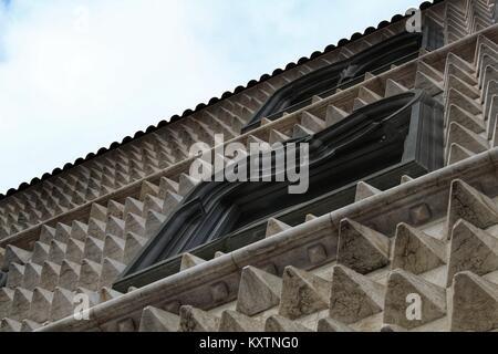 Casa dos Bicos facade in Lisbon, Portugal