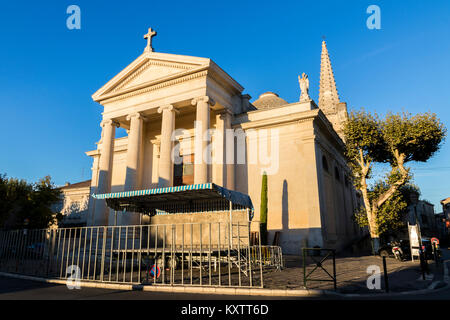 The collegiale Saint-Martin, a collegiate church in Saint-Remy-de-Provence, Provence-Alpes-Cote d'Azur, France - Stock Photo