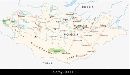 Map Of Russia Vector Illustration Stock Vector Art - Mongolia map vector