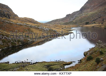 A small lake high up in the mountains near the Gap of Dunloe in kerry, Ireland. - Stock Photo