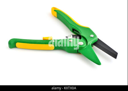 Professional garden pruner or scissors or secateurs on white Stock ...