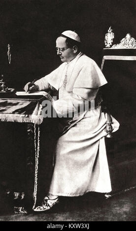 Pius XI, was Pope from 1922 to his death in 1939 - Stock Photo