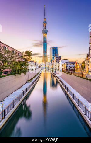 TOKYO, JAPAN - NOVEMBER 3, 2012: The Tokyo Skytree. It is considered the second tallest structure in the world . - Stock Photo