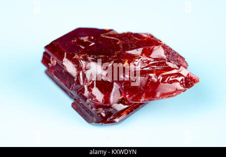 red natural crystals - Stock Photo