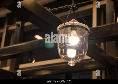 Old fashioned vintage street lamp - Stock Photo