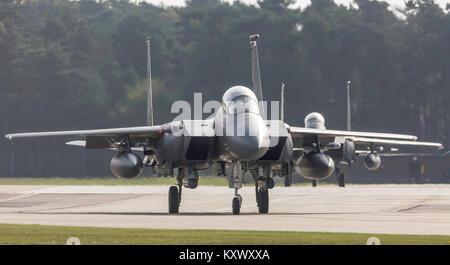 F-15E Strike Eagle, RAF Lakenheath - Stock Photo