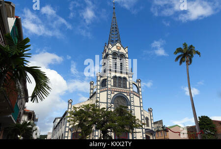 St. Louis Cathedral, Fort de France city , Martinique island. - Stock Photo
