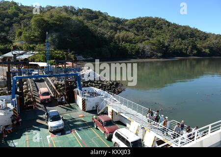 Ferry from Puntas Arenas to Nicoya Peninsula Costa Rica - Stock Photo