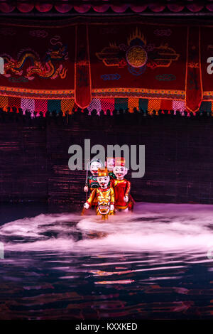 Marionettes,Traditional Water Puppet Show, Thang Long Puppet Theatre, Hanoi, Vietnam - Stock Photo