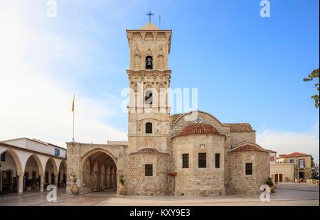Agios Lazaros, an orthodox church under blue sky with few clouds, at Larnaca, Cyprus. - Stock Photo