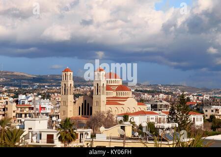 Agioi Anargyroi Church in Pafos town on Cyprus - Stock Photo