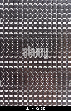 Clean stainless floor background close-up. Shiny metal surface - Stock Photo