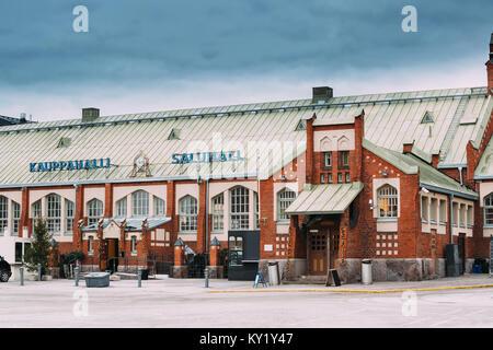 Helsinki, Finland. Hietalahti Market Hall Located In Old Market Hall Of Hietalahdentie In Helsinki And Include Market, - Stock Photo