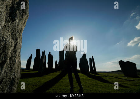 Standing Stones at Callanish, Isle of Lewis, Scotland. - Stock Photo