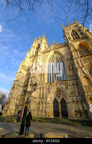 The front west, entrance side of York Minster - Stock Photo