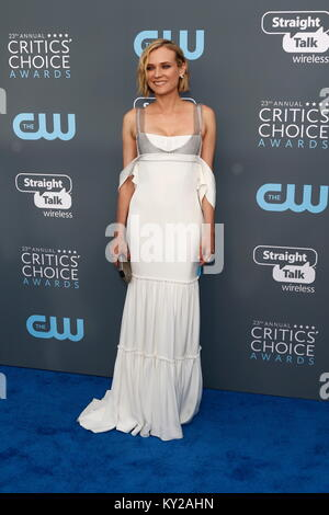 Beverly Hills, USA. 12th Jan, 2018. Diane Kruger attends the 23rd Annual Critics' Choice Awards at Barker Hangar - Stock Photo