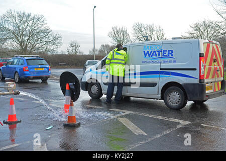 Clevedon, UK. 12th January, 2018.Serious parasite found in Bristol water in Clevedon North Somerset. Affected Residents - Stock Photo