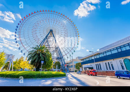 Tempozan Ferris Wheel in Osaka  OSAKA, JAPAN - OCTOBER 28: Tempozan Ferris Wheel in Osaka, Japan on October 28, - Stock Photo