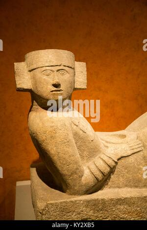 Chac-Mool from Chichen Itza, National Museum of Anthropology, Mexico City, Mexico - Stock Photo